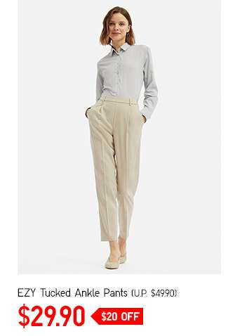 Women's EZY Tucked Ankle Pants at $29.90