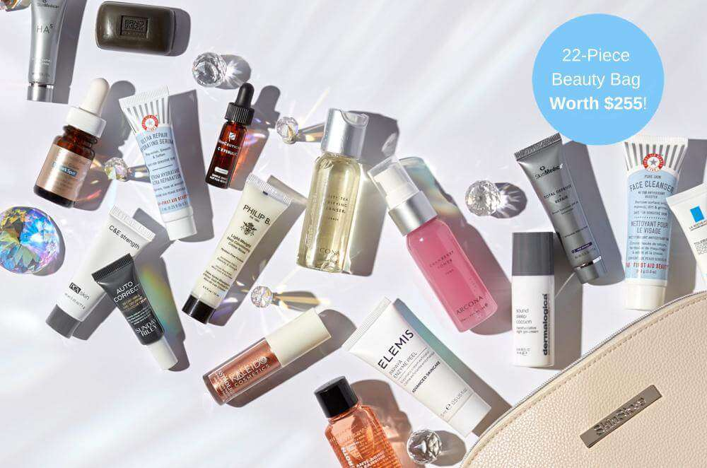 22% OFF + FREE 22-PIECE $255 BEAUTY BAG!