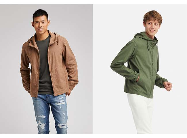Men's Linen Cotton Full-Zip Parka at $49.90