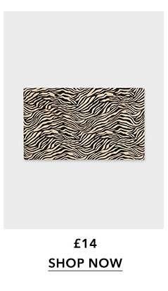Brown Zebra Print Bandeau Top