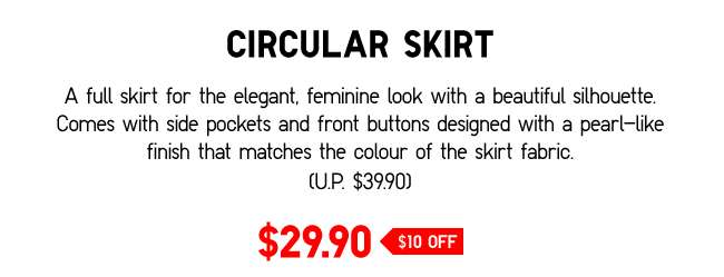 Circular Skirt | A full skirt for the elegant, feminine look with a beautiful silhouette.