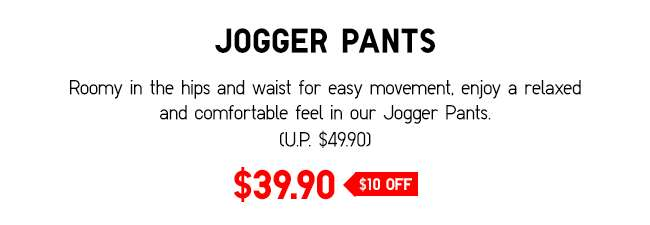 Jogger Pants | Roomy in the hips and waist for easy movement.