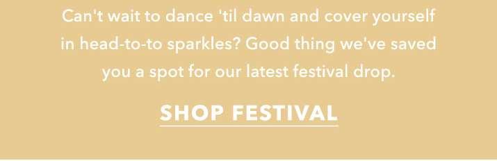 The headliners - Shop festival