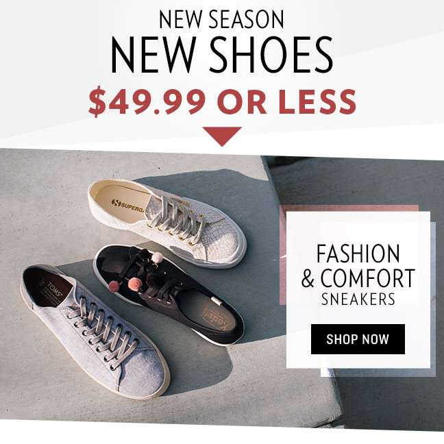 Shop Fashion & Comfort Sneakers