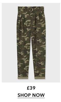 Khaki Camouflage Utility Trousers
