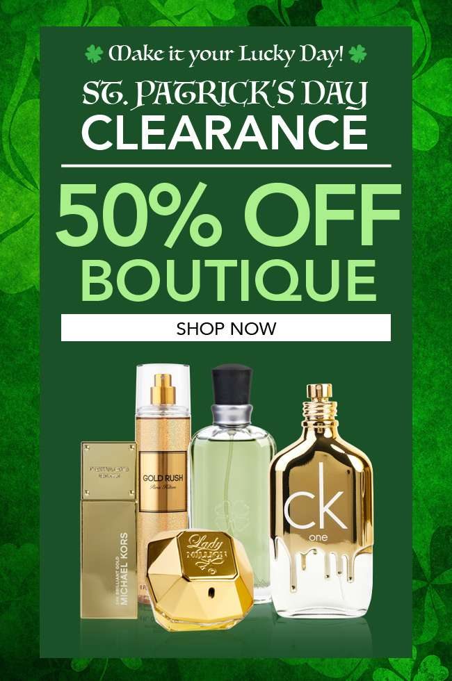 Make it your lucky day! St. Patrick's Day Clearance. Shop 50% Off Boutique collection!