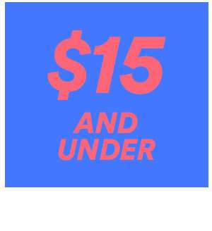 $15 & UNDER   SHOP NOW
