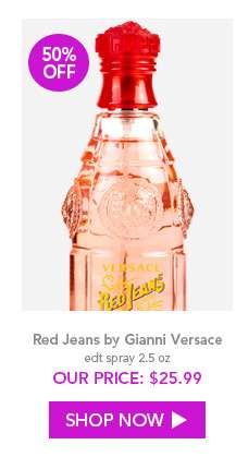 Shop Red Jeans by Gianni Versace