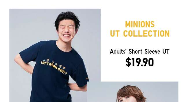 Minions UT Collection | Adults' Short Sleeve UT at $19.90