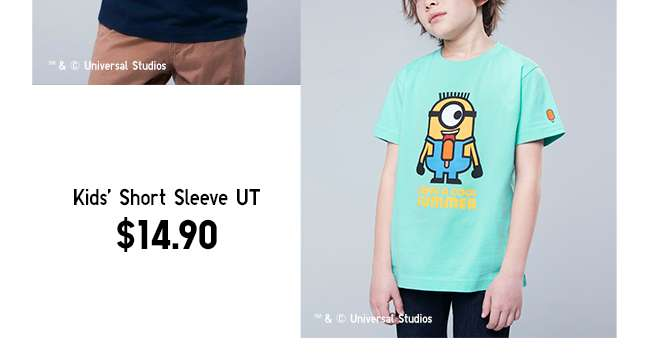 Minions UT Collection | Kids' Short Sleeve UT at $14.90
