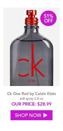 Shop Ck One Red by Calvin Klein
