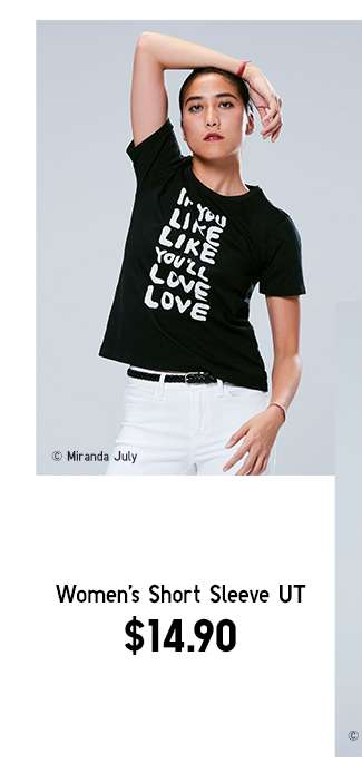 Miranda July UT Collection | Women's Short Sleeve UT at $14.90