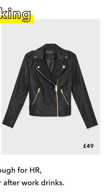 Black Debbie Biker Jacket