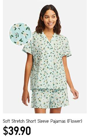 Women's Soft Stretch Short Sleeve Pajamas (Flower) at $39.90