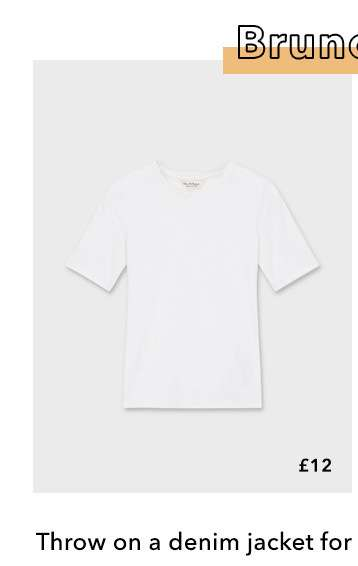 White Short Sleeve Clean Ribbed T-Shirt