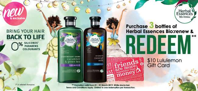 Herbal Essences Bio:Renew Promotion