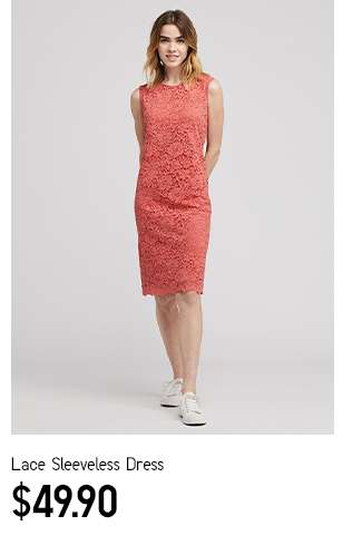 Women's Lace Sleeveless Dress at $49.90