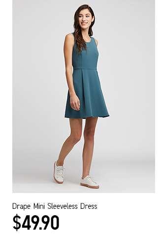Women's Drape Mini Sleeveless Dress at $49.90