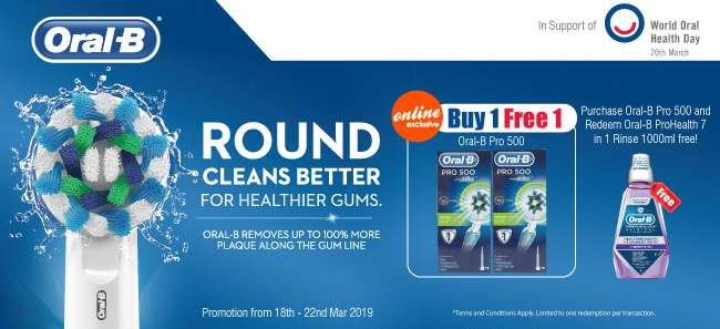 Oral-B Buy 1 Free 1 Oral-B Pro 500