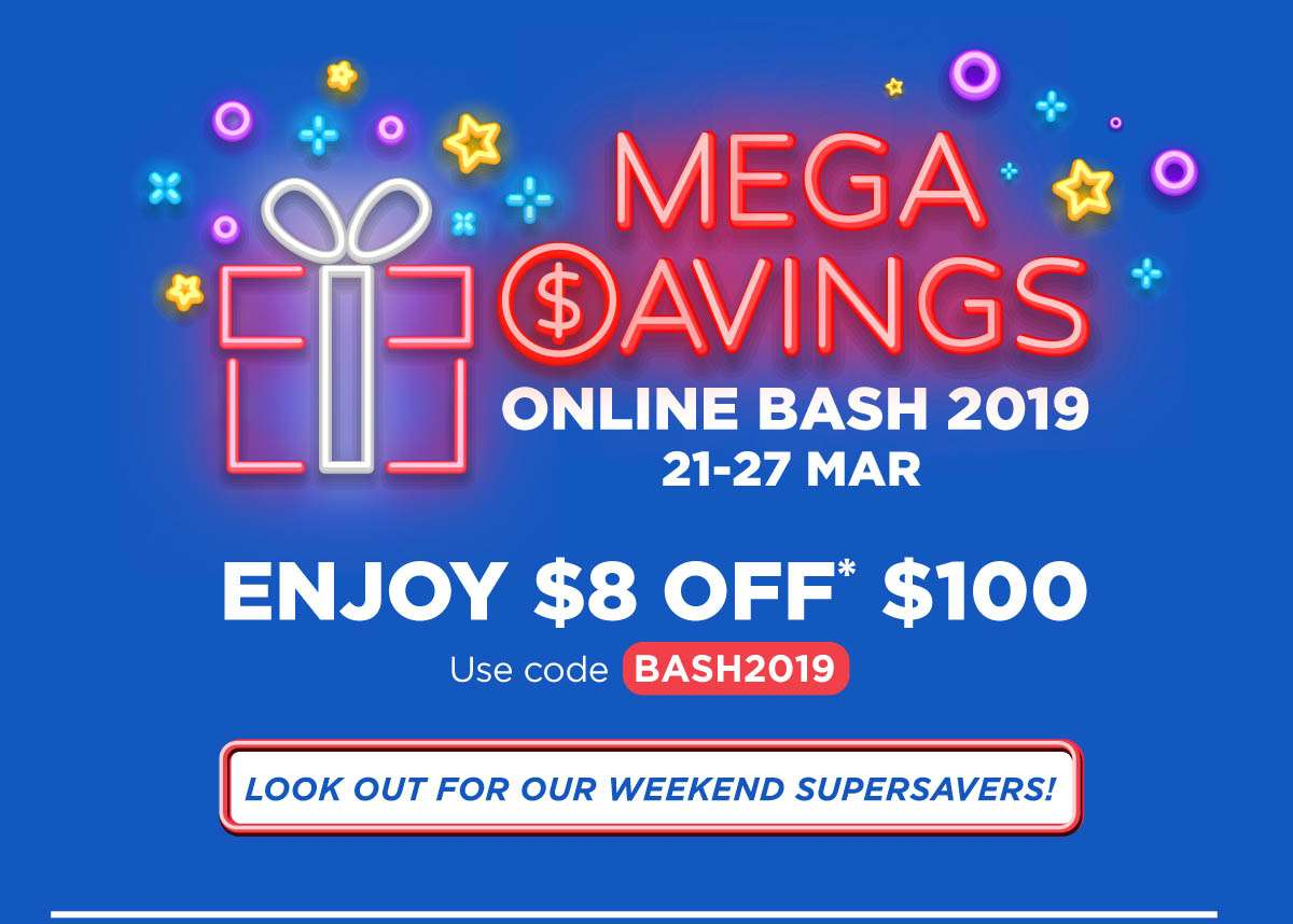 Mega Savings Online Bash
