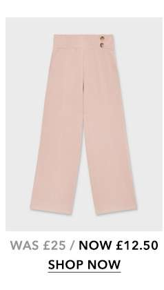 Nude Button Wide Leg Trousers