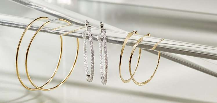 Diamond & More Hoops We're Wearing