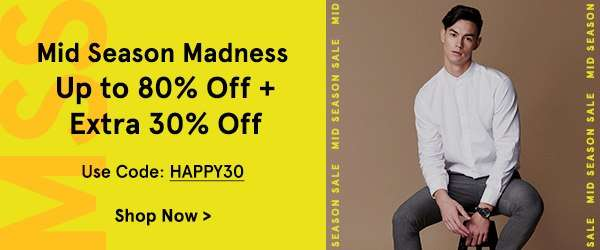 Mid Season Madness: Up to 80% Off + Extra 30% Off