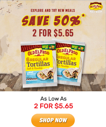 Old El Paso: As Low As 2 FOR $5.65. Shop Now!