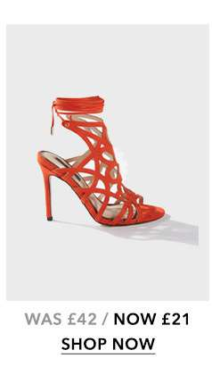 Coral HUN Caged Stiletto Heeled Sandals