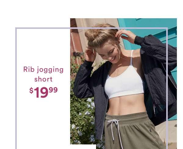 Rib Jogging Short $19.99 | Shop Now