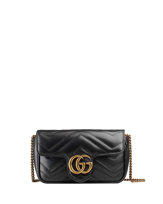GG Marmont Matelasse Leather Super Mini Bag