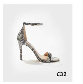 HARLEY Grey Barely There Sandals