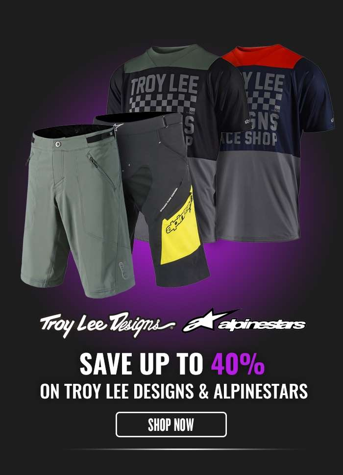 Save up to 40% on Troy Lee Designs & Aplinestars