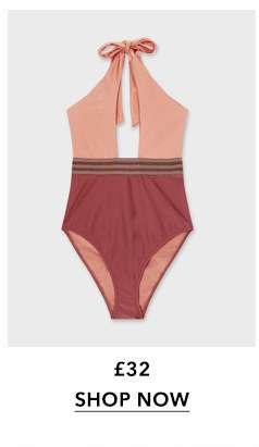 Bronze Luxe Halter Swimsuit