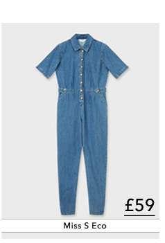 Blue Short Sleeve Boiler Jumpsuit