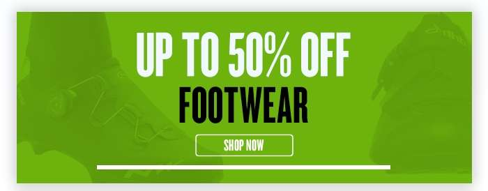 Up to 50% Off Footwear