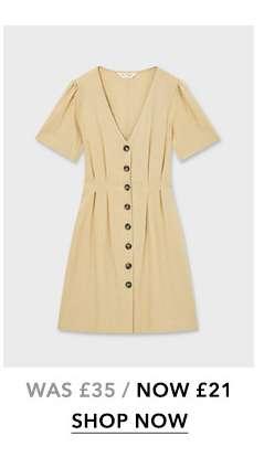 Stone Linen Tea Dress