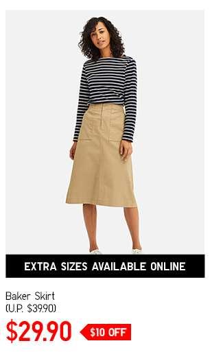 Women's Baker Skirt at $39.90