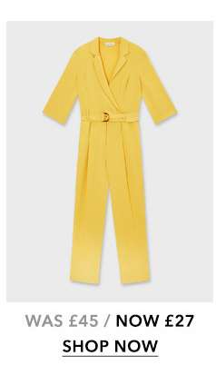 Yellow Wrap Jumpsuit