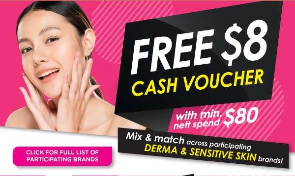 Free $8 Cash Voucher