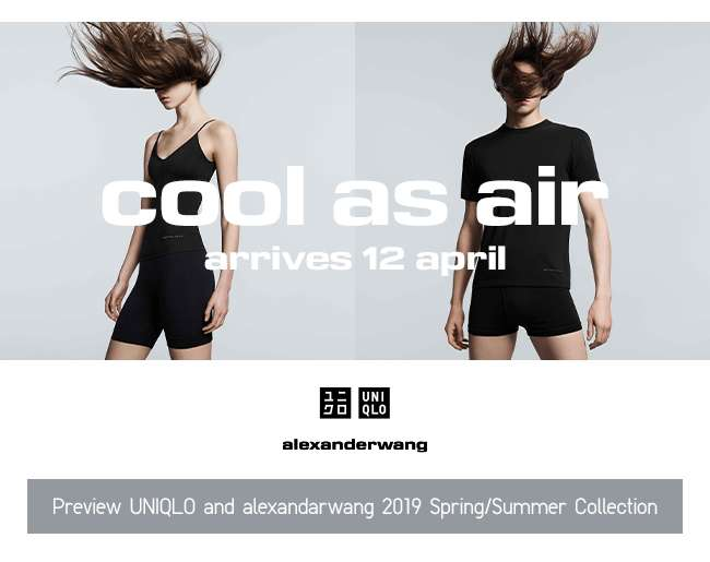 UNIQLO and alexanderwang 2019 Spring/Summer Collection | Arrives 12 April