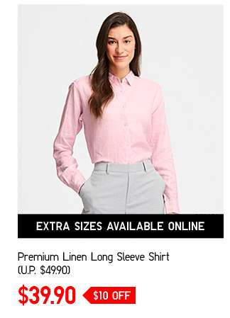 Premium Linen Long Sleeve Shirt at $39.90