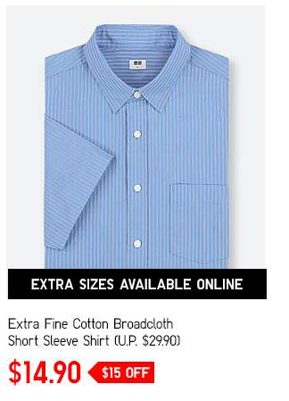 Extra Fine Cotton BroadCloth Long Sleeve Shirt at $14.90