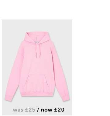 Pink Long Sleeve Oversized Hoodie