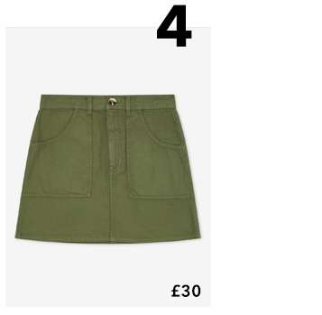 Khaki Cargo Pocket Mini Skirt