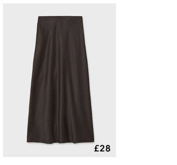 Black Bias Slip Skirt
