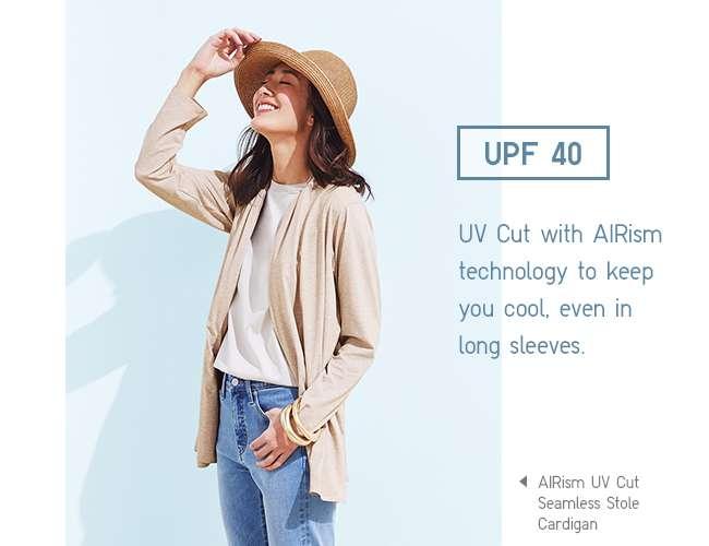 Women's AIRism UV Cut Seamless Stole Cardigan