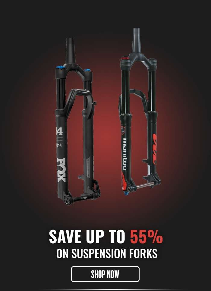 Save up to 55% on Suspension Forks