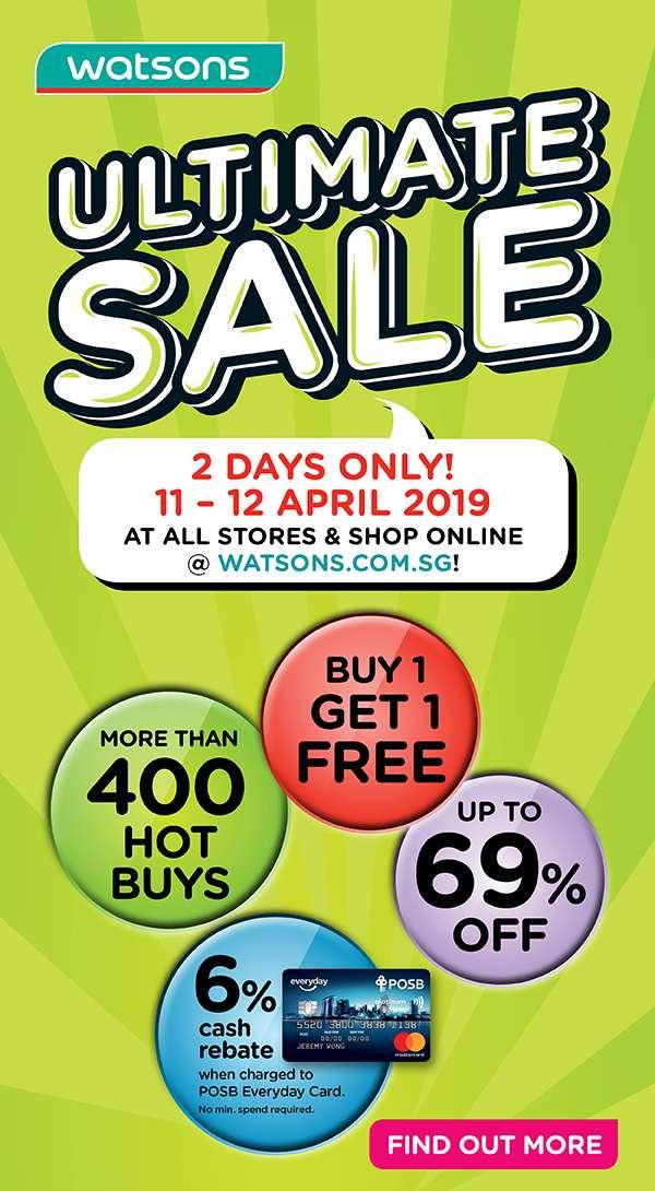 Ultimate Sale 11 April