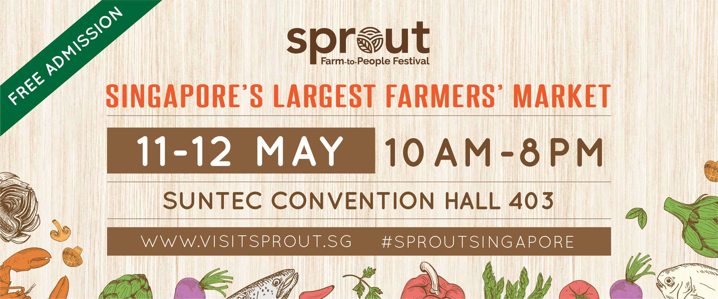 Sprout: Farm-to-People Festival, 11-12 May at Suntec Convention Hall 403